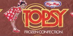 Topsy Ice Cream Wrapper, mid 1980s