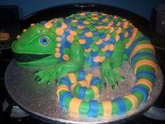 Lizard cake