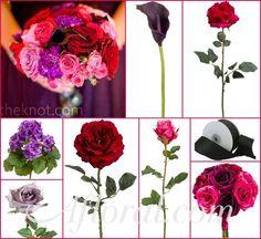 #Purple wedding #afloral #eggplant http://blog.afloral.com/inspiration-boards/sarahs-purple-and-fuchsia-inspiration-board/