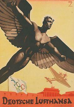 Deutsche Lufthansa poster by Ludwig Hohlwein, 1936