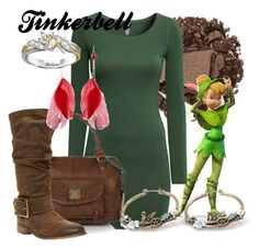 """""""Tinkerbell"""" by amarie104 ❤ liked on Polyvore featuring Urban Decay, ...Lost, H&M, Nica, Steve Madden, Disney Couture and Disney"""