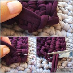 Capítulo II Cómo hacer los laterales del super bolso de trapillo foto a foto | Santa Pazienzia Bag Crochet, Crochet Clutch, Crochet Purses, Cotton Cord, Tapestry Crochet, T Shirt Yarn, Knitted Bags, Couture, Boho Chic