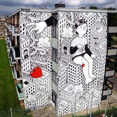 New piece by Millo entitled Kriebelstadin Heerlen, Holland