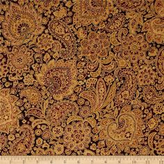 From Hoffman California International Fabrics, this cotton print is perfect for quilting, apparel and home decor accents. Colors include shades of brown and shades of red with gold metallic accents.