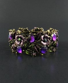 Filigree Designed Rhinestone Bracelet - Choose Col: http://www.outbid.com/auctions/2587-yesterday-s-jewelry-auction-new-items#7