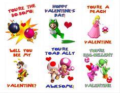 Orange You Crafty - Super Mario Valentines (free printable)