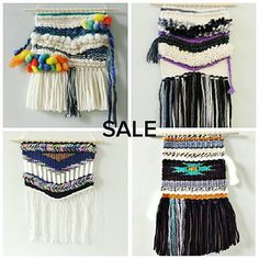 Sale time. Each piece is priced at $35  shipping $10 Canada $13 US $16 everywhere else. First to comment SOLD top left top right bottom left bottom right and include your PayPal address. #weavesale #sale #wovenwallhanging #makingspace #limitedtime #ooohahhh by rovingtextiles