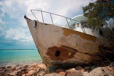 Wrecked Fishing Boat - Long Island, Bahamas