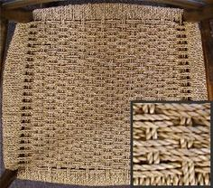 Chair Seat Woven With Roped Seagrass In A Danish Style Pattern