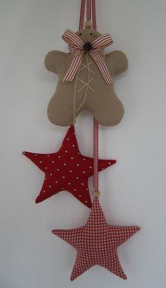 Weihnachtsdeko - Lebkuchenmann nach Tilda/ Girlande/ Sterne - ein Designerstück von Feinerlei bei DaWanda 17