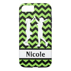 Green Black Softball Cell Phone Case - black gifts unique cool diy customize personalize