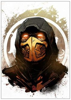 Scorpion from Mortal Kombat Arte Kombat Mortal, Mortal Kombat Tattoo, Mortal Kombat X Scorpion, Skorpion Mortal Kombat, Comic Books Art, Comic Art, Mortal Kombat X Wallpapers, Arte Ninja, Gaming Wallpapers
