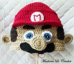 Mario Hat -  Crochet Beanie -Made to Order. $24.99, via Etsy.