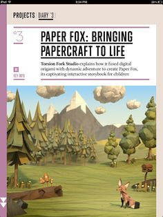The Paper Fox Project Cartoon Trees 3d Background Game Dev Magazine Art