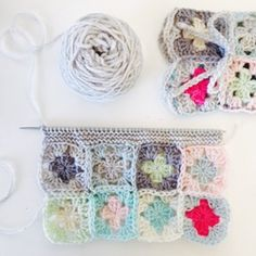 Busy with #2. #crochet #grannysquare #knitting #yarn #handmade #haken #hekel