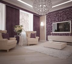 Give your living room a new look with a makeover. Whether you are looking to completely redo your space or give your living room a simple update, you'll find ideas, photos, and tips to inspire your new room. Living Room Decor Purple, Living Room Sets, Living Room Designs, Living Spaces, Bedroom Decor, Home Interior, Interior Decorating, Interior Design, Small Spaces