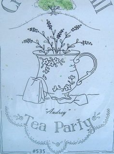 Crabapple Hill Embroidery Stitch Patterns Teacups - Flowers - Garden YOU CHOOSE | eBay