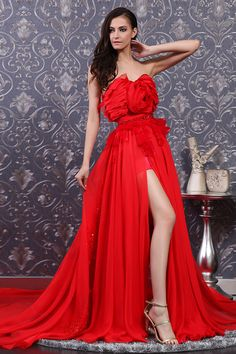 Red Slit Gown