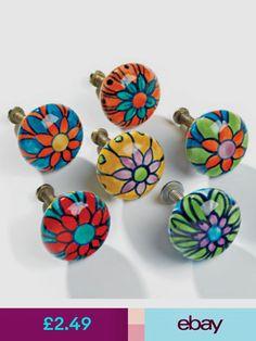 Hand Painted Round Ceramic Doorknob > Hooks & Knobs > Home & Gifts > Namaste Fair Trade > Namaste-UK Ltd Knobs And Handles, Drawer Knobs, Drawer Handles, Knobs And Pulls, Drawer Pulls, Door Handles, Cabinet Knobs, Paint Door Knobs, Diy Door Knobs