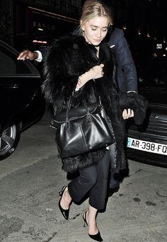Ashley w/ bag by Elizabeth and James and heels by Manolo Blahnik