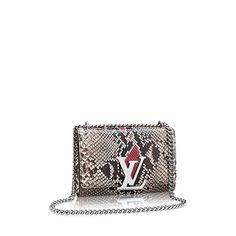 Chain Louise MM Pythonleder Damen Handtaschen  | LOUIS VUITTON