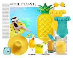 """""""Pool Party"""" by marionmeyer on Polyvore featuring interior, interiors, interior design, Zuhause, home decor, interior decorating, TIKI, Fuji und poolparty"""