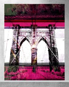 pink Brooklyn Bridge, Pink, Travel, Viajes, Traveling, Pink Hair, Trips, Roses, Tourism