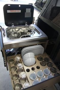 Tiny House dish drawer