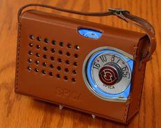 Electric Company, Antique Radio, Transistor Radio, Vintage Advertisements, Radios, Leather Case, Retro Vintage, Japan, Electronics