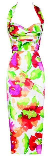 The Alegra Halter dress at Just Add Heels http://justaddheels.com/collections/dresses/products/stop-staring-alegra-watercolor-dress