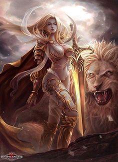 All Kinds of Fantasy. Fantasy Warrior, Fantasy Girl, Angel Warrior, 3d Fantasy, Warrior Girl, Fantasy Kunst, Fantasy Women, Anime Fantasy, Medieval Fantasy