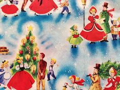 Vintage Christmas Wrapping Paper by by TheGOOSEandTheHOUND on Etsy