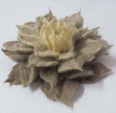 Felt Flower Brooch  eco friendly holiday gift idea by svetluz, $21.00