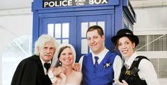 A Wedding And A TARDIS Photo Booth. When Geeks Wed