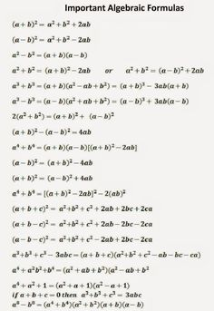 SSC Adda: Algebraic Formulas Part -1 #adda #algebraic #formulas #part #ssc #adda: Geometry Formulas, Math Formulas, Mathematics Geometry, Life Hacks For School, School Study Tips, Math Formula Chart, Maths Solutions, Math Vocabulary, Gre Math
