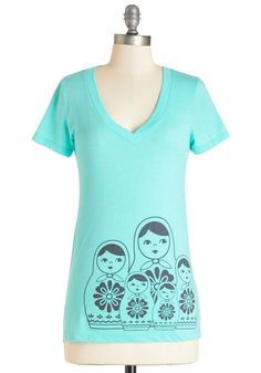 With this tee, it's easy to get all dolled up!