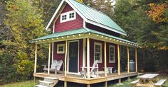What a beautiful tiny house x shed with loft click through for photos interiors plans . tiny house plans new deck plan floor Shed With Loft, Shed To Tiny House, Tiny House Cabin, Tiny House Living, Tiny House Design, Small House Plans, Sell House, Tiny House Family, Shed Cabin