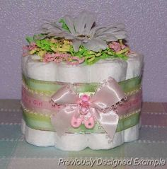 Mini Flower Diaper Cake