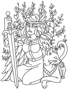 Norse Gods - Freya | Urban Threads: Unique and Awesome Embroidery Designs