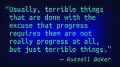 Russell Baker - Progress