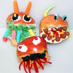 Apple Monster Face Snacks - it's a fun summer snack for kids!