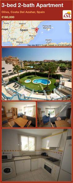 3-bed 2-bath Apartment in Oliva, Costa Del Azahar, Spain ►€180,000 #PropertyForSaleInSpain