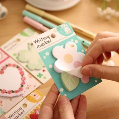 Kawaii Vintage Floral Cake Planner Memo Pads School Supplies Stationery Sticky Notes Notepad Post it Papelaria Sticker Papel 002