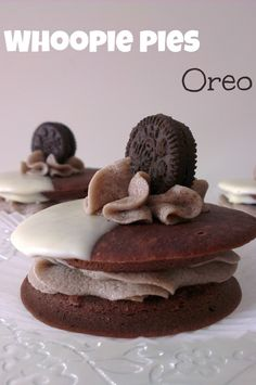 Sivila Happy Bakery : ♥ Whoopie pies de Oreo Cookies and cream pies