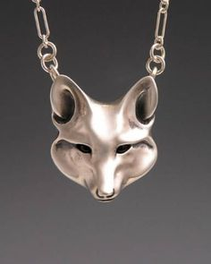 Fox Jewelry, Handcrafted Silver Jewelry..love this artist!! Her Stag pendent is unbelievable.