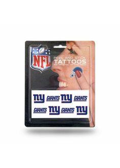 New! New York Giants 8 Piece Temporary Tattoos #NewYorkGiants