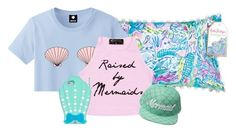 """mermaid stuff "" by mermaidpearls ❤ liked on Polyvore featuring Lilly Pulitzer"