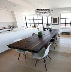 Rustic Modern Dining Table Design Ideas, Pictures, Remodel and Decor