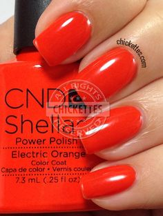 CND Shellac Paradise Collection Summer 2014 - Electric Orange
