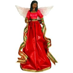 Tiffany Angel: African American Christmas Tree Topper by Positive Image Gifts (Red) Christmas Tree Tops, Red Christmas, Christmas Decorations, Christmas Images, Christmas Ornaments, Image Gifts, Christmas Wonderland, Tree Toppers, American